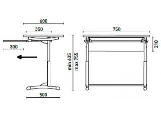 Характеристики: Парта: E-172/1A SL