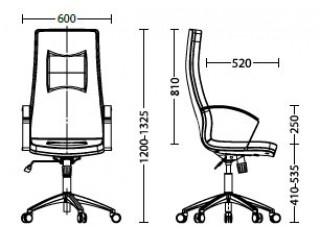 Характеристики: Крісло для керівника: King tilt