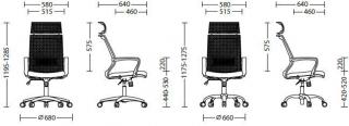 Характеристики: Крісло для персоналу: Stark