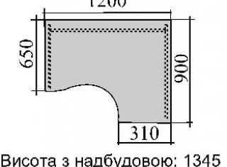 Характеристики: Стіл комп'ютерний: SKD-04
