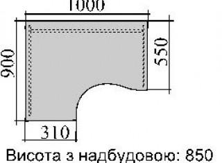 Характеристики: Стіл комп'ютерний:  SKD-03