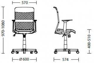 Характеристики: Крісло для персоналу: Tempo