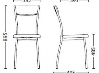 Характеристики: Стілець для кафе і бару: Viola plus