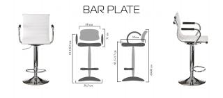 Характеристики: стілець барний високий: Plate